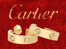 Very fine diamond earrings by Cartier
