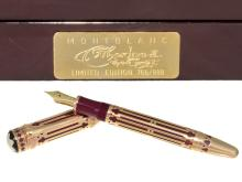Extremely rare and limited Mont Blanc 'Catherine The Great' 18K Gold and rubies, No.766/888, complete edition, like new