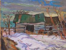 Old Log Barn. South West of North Gower. Ont.