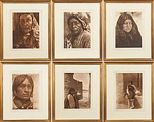 Group of Six Edward Sheriff Curtis (American, 1868-1952) Native American Photogravures