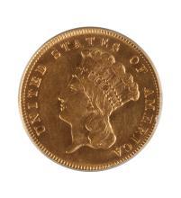 1874 Three Dollar Gold Coin