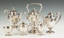 Gorham 6-Piece Sterling Silver Coffee & Tea Set -  Edgeworth Pattern