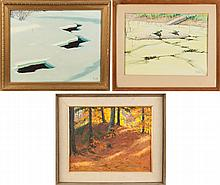 Three Alling Clements Paintings (American, 1891-1957)