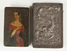 Victorian Snuff Box & Chinese Silver Card Case