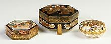 Three Satsuma Covered Boxes