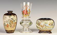Japanese Satsuma Vases & Continental Vase