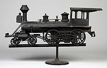 Painted Sheet Metal Locomotive Weathervane