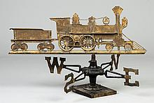 Engine & Tender Copper Weathervane
