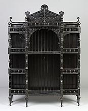 Victorian Ebonized Wood Curio Cabinet