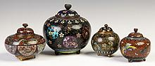 Four Japanese Covered Jars