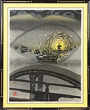 Woodblock Print of Japanese Lantern