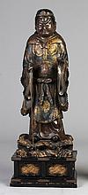 Carved & Polychrome Wood Japanese Figure