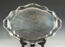 Reed & Barton Sterling Silver Tray - Hampton Court Pattern