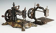 Two Hand Operated Cast Iron Sewing Machines