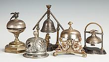 Five Victorian Brass & Silver Bells