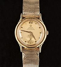 Vintage Omega 14K Gold Automatic Chronometer Watch