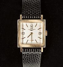 Vintage Swiss Longines 14K Gold & Diamond Watch