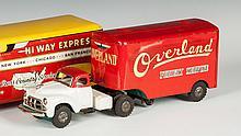 Vintage Japan Tin Friction Overland Freight Service