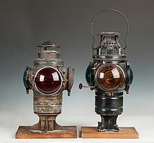 Two Railroad Lamps