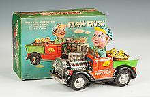 Vintage Japan Toy Battery Operated Farm Truck