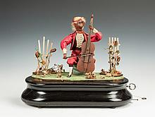 DeCamp Clockwork Musical Monkey Bass Player