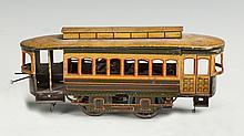 Bing Clockwork Tin Lithograph Trolley Car