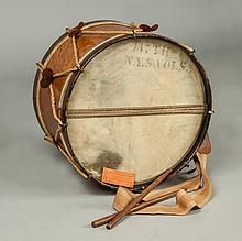 Inlaid Bird's Eye Maple & Rosewood Civil War Era Drum