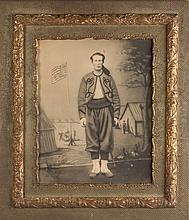 Studio Portrait of a Soldier in Zouave Uniform