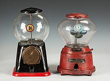 Two Vintage Gumball Machines