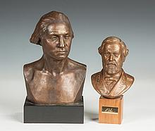 Two Contemporary Composition Busts