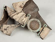 Virginia Civil War Brass Belt Buckle