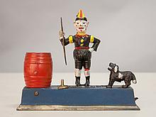 Hubley Trick Dog Cast Iron Bank