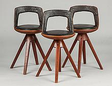 Three Tove and Edvard Kindt-Larsen Stools, Thorald Madsen Snedkeri