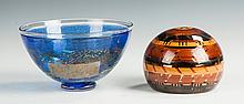 Two Pieces of Contemporary Art Glass