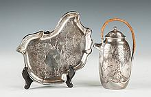 Gorham Japanese Style Sterling Silver Tray & Teapot
