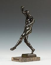 Max Kalish (American, 1891-1945) Bronze Sculpture of an Athlete