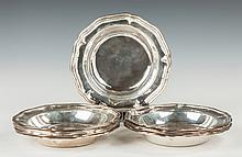 Twelve Chinese Export Sterling Silver Deep Dishes