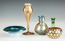 Five Pieces of Art Glass