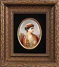 KPM Plaque of a Middle Eastern Woman