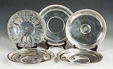Five Sterling Silver Trays