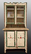 Canadian Painted Pine Step Back Cupboard
