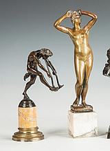 Two Bronzes of a Pan & a Nude