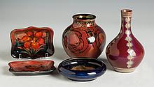 Five Moorcroft & Pilkington Pieces