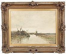 Charles Paul Gruppe (American, 1860-1940) Canal scene