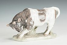 Royal Copenhagen Porcelain Bull & Vase