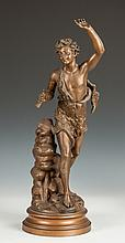 Spelter Statue of a Young Boy