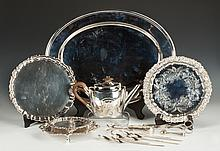 Group of Silver Plate Table Articles