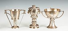 Two Sterling Silver Handled Cups & A German Silver Chalice