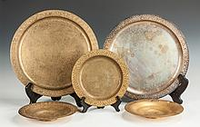 Group of Tiffany Studios Chargers & Bowls