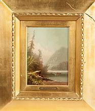 Attr. to Augustus Rockwell (New York, 1822-1882) Adirondack scene